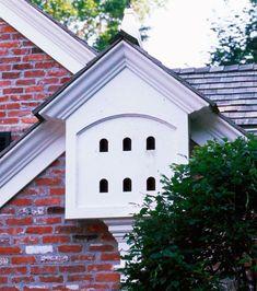 birdhouse in eave