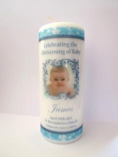 Personalised Christening Candle Boy or Girl