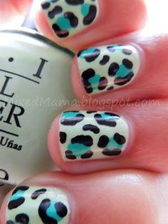 MixedMama: Funky Leopard Print Nails + Tutorial
