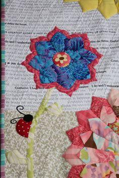 Summer Rain, modern Dresden Plate quilt by Paula Storm | Sew Little Fabric