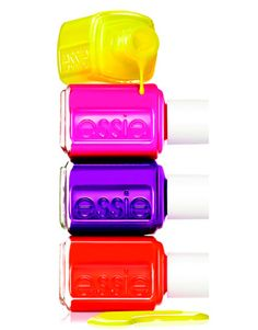 "Neon nail polish is super ""in"" this summer! Super cute"