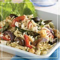 pasta salad, orzo salad, kitchen salad