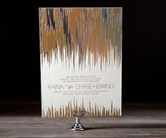 Shine on!! foil on foil wedding invitations by Bella Figura