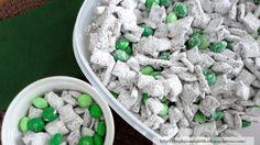 puppy chow, puppies, puppi chow, mint puppi, thin mints, st patricks day, snacks, stpatrick, snack mix