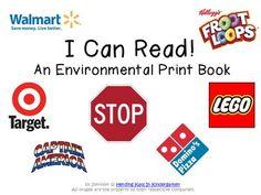 classroom, books, print book, environmental print ideas, pre reading, kindergarten, educ, print pictures, environment print