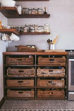35 Dazzling Farmhouse Kitchen Storage Ideas #farmhousekitchen #kitchenstorage #kitchenstorageideas