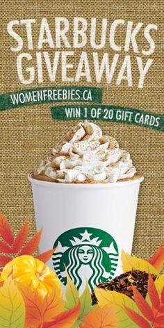 Win 1 of 20 Starbucks Gift Cards