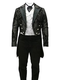 great victorian men's waistcoat with tails
