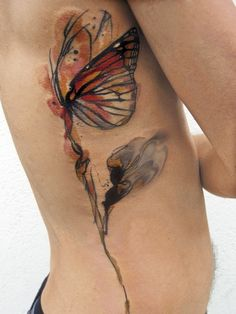 Don't like butterflies, but this watercolor look is incredible.