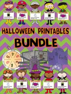 Halloween printables bundle Lots of craftivities in English and Spanish