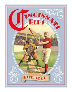 Reds Baseball print by aswegoArts