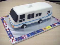 Fantastic Camper Retirement Cake  Cake By Jennifer39s Edible Creations