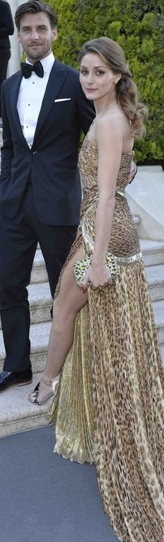 Olivia Palermo & Johannes Huebl wearing Roberto Cavalli at the amfAR Gala 2013 in Cannes ♥✤ | KeepSmiling | BeStayBeautiful