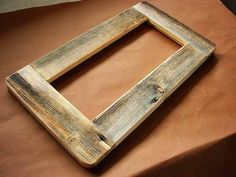 I want to make some of these out of old barn wood to frame farm pictures for my basement