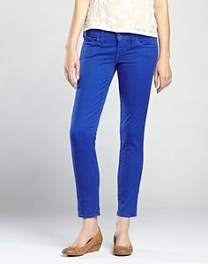 lucky brand colorful charlie capri jeans