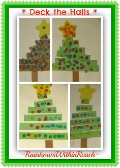 Christmas Tree Craft for Young Children at PreK+K Sharing