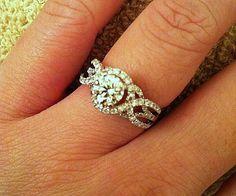 diamond engag, 14k white, engagment ring halo, dream, custom list, unique band engagement ring, white gold, engag ring, engagement rings halo