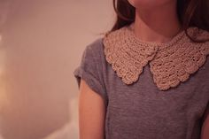 Lovely handmade crochet collars by Miss Willow~