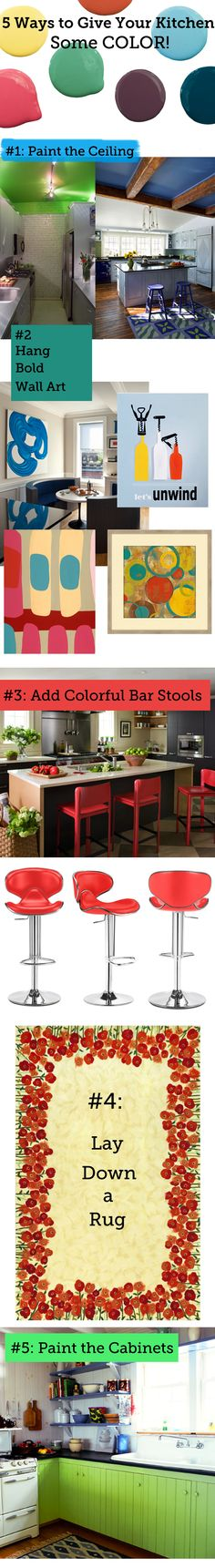 5 Ways to Give Your Kitchen Some Color