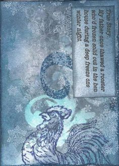 Winter ATC's - love the idea of adding a personal story