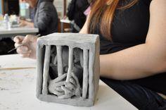 middle school ceramics, clay sculptur, high school ceramics