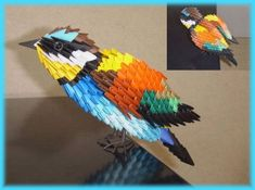 3D Origami - European Bee Eater