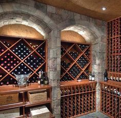 Large Wine Cellar with Triangle Wine Cubes