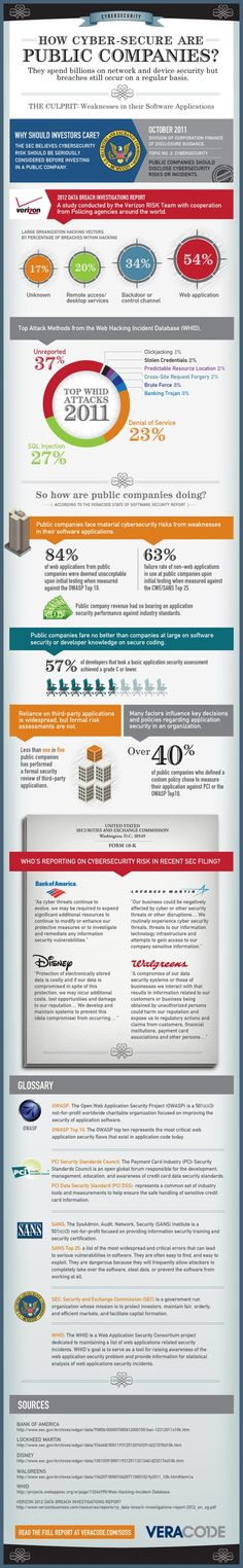 How Cyber-Secure are Public Companies? #Infographic