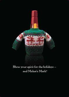Maker's Mark Christmas sweaters