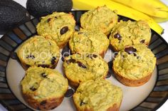 Chocolate Chip Avocado Muffins #CleanEating