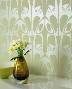 Hula: Green Wallpaper from www.grahambrown.com
