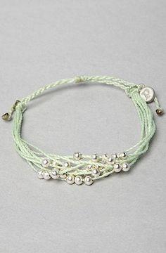 good Pura Vida The Platinum Bracelet in Mint Green,Jewelry for Women