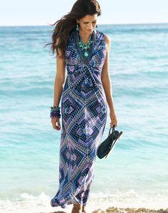 Modern Texture – Maxi Dress #chicos