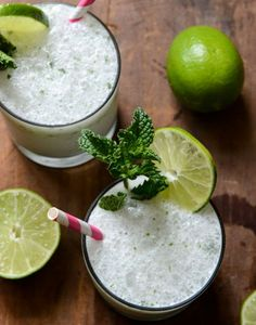 Frosty Coconut Mojitos - Seriously Refreshing and Delicious