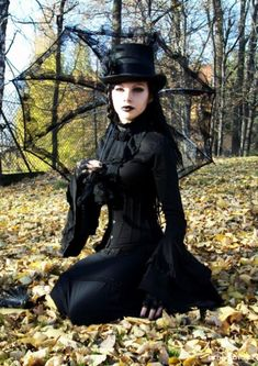 Neo-Victorian #goth girl with parasol