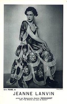 1928 Jeanne Lanvin Evening Gown Modeled by Jane Renouardt Luigi Diaz.