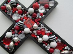 Love this Texas Tech Red Raiders Embellished Cross Wall Cross from @2GirlsForever on etsy.com $18.00