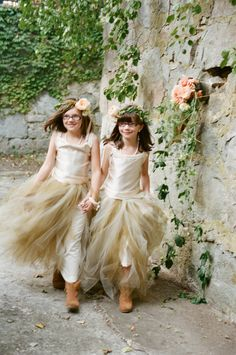 Handmade flower girls dresses (Kalli Alba Couture) - Gibbet Hill Wedding from White Loft Studio  I was typing in my Shops name to see what came up and i came across several pictures!! LOVE THIS!!