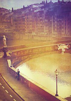 Florence - Santa Trinita Bridge With Magdalen Nabb in Death of a Dutchman