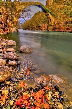Konitsa Old Bridge, Epirus, Greece photo via kjara