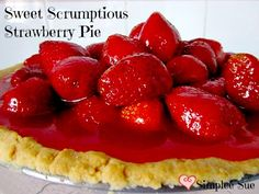 Sweet Scrumptious Strawberry Pie with Cookie Crust  Frivolous Friday