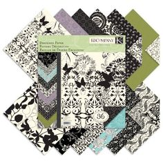 K Black & Ivory Designer 12-by-12-Inch Paper Pad
