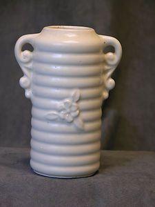 USA Pottery- Arts & Crafts Matte White Pottery Vase