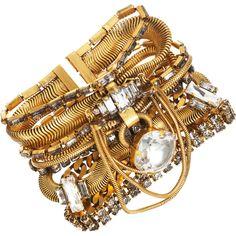 Erickson Beamon Gold Snake Drop Bracelet
