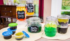 @sophieuliano makes a bath shower jelly! #bath #shower #soap #homeandfamily #homeandfamilytv