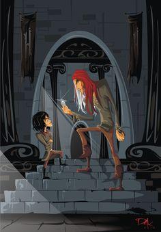 Arya and Jaqen by ~dejan-delic on deviantART