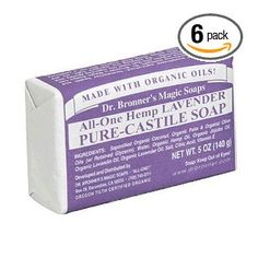 Dr. Bronner`s Magic Soaps Pure-Castile Soap, All-One Hemp Lavender, 5-Ounce Bars (Pack of 6) $22.65