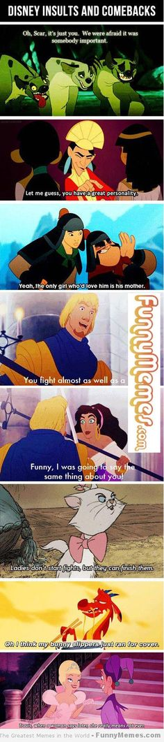funny disney memes | Funny memes - [Disney insults and comebacks] - http://FunnyMemes.com. so much sass!