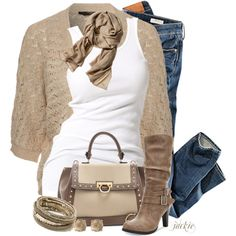 Crochet Cardigan, created by jackie22 on Polyvore