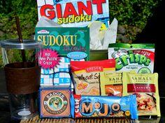 Sudoku and Snacks gift for men